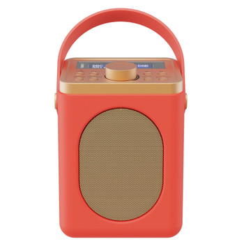 MAJORITY Majority Little Shelford DAB/DAB+ Radio with Bluetooth-Red