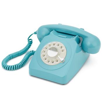 GPO RETRO GPO 746 ROTARY TELEPHONE - BLUE