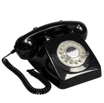 GPO RETRO GPO 746 ROTARY TELEPHONE - BLACK