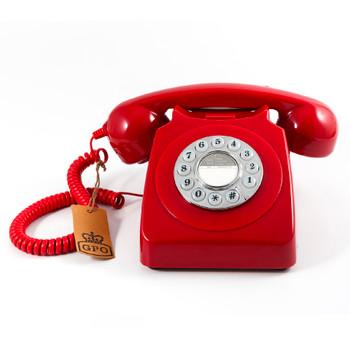 GPO RETRO GPO 746 PUSH BUTTON TELEPHONE - RED