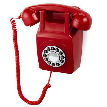 GPO RETRO GPO 746 WALL MOUNTED PUSH BUTTON TELEPHONE - RED