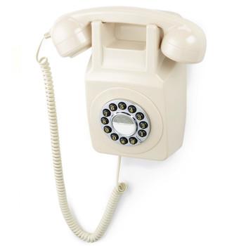 GPO RETRO GPO 746 WALL MOUNTED PUSH BUTTON TELEPHONE - IVORY