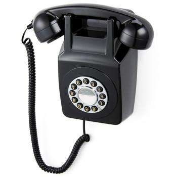 GPO RETRO GPO 746 WALL MOUNTED PUSH BUTTON TELEPHONE - BLACK