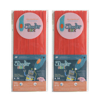3DOODLER 3Doodler Start Eco-Plastic-Cherry Red-2pack