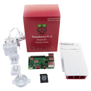 RASPBERRY PI RASPBERRY PI - RPI3-MODBP-STARTER -  Complete Starter Kit for Raspberry Pi 3 Model B+, Official Case and PSU Included
