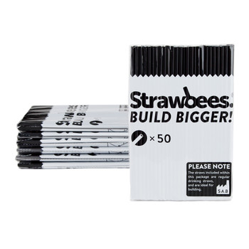 STRAWBEES Strawbees Construction Pipes  - Black