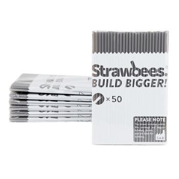 STRAWBEES Strawbees Construction Pipes  - Grey