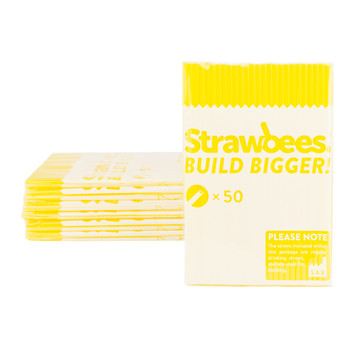 STRAWBEES Strawbees Construction Pipes  - Yellow