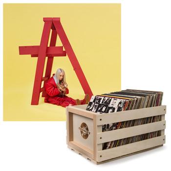 UNIVERSAL MUSIC Crosley Record Storage Crate & Billie Eilish - Dont Smile At Me - Vinyl Album Bundle
