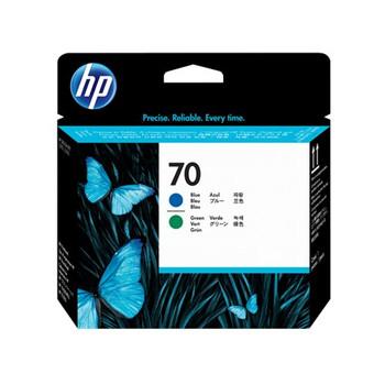 HEWLETT PACKARD HP 70 BLUE AND GREEN PRINTHEAD