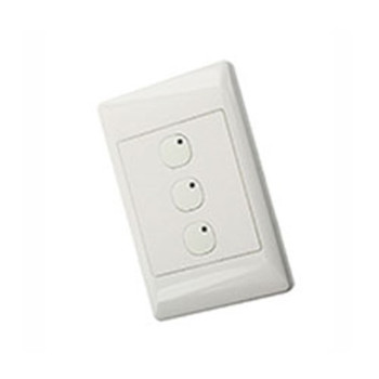 LEVITON SECURITY & AUTOMATION OMNI-BUS 3-BUTTON WALL SWITCH- WHITE