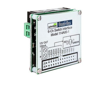 LEVITON SECURITY & AUTOMATION OMNI-BUS 6-CHANNEL UNIVERSAL SWITCH INTERFACE MODULE