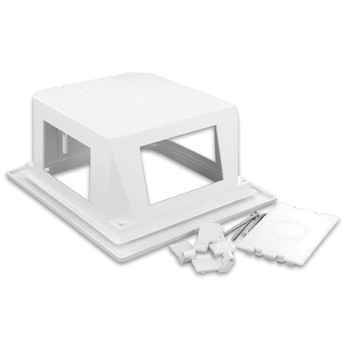 LEVITON NETWORK SOLUTIONS REB - RECESSED ENTERTAINMENT BOX - INCLUDES LOW PROFILE FRAME / COVER