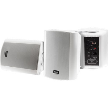 WINTAL CLASS5AW WHITE PAIR 2-WAY 40W CLASS D AMP IN & OUTDOOR ACTIVE SPEAKERS WITH STANDBY