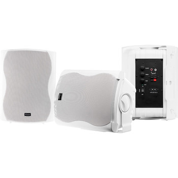 WINTAL CLASS6AW WHITE PAIR 2-WAY 60W CLASS D AMP IN & OUTDOOR ACTIVE SPEAKERS WITH STANDBY