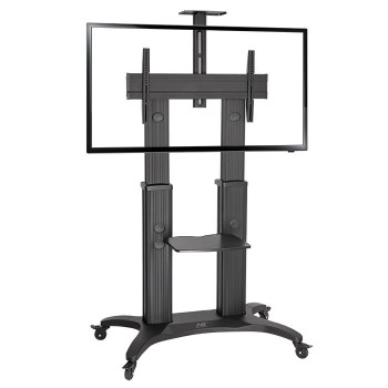 NORTH BAYOU HEIGHT ADJUSTABLE TROLLEY FOR TV SCREEN SIZE 55-80 MAX 56.8KG