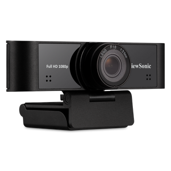 VIEWSONIC 1080p ultra-wide USB camera with built-in microphones compatible - Windows and Mac