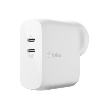 BELKIN BOOST↑CHARGE™ Dual USB-C PD GaN Wall Charger 68W White