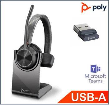 POLYCOM ASIA PACIFIC PTE LTD Voyager 4310 UC with Charge Stand, Teams certified, Monaural, Wireless, Noise canceling boom, Acoustice Fence, SoundGuard