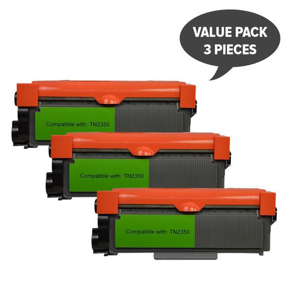TN-2350 Premium Generic Toner Cartridge x 3