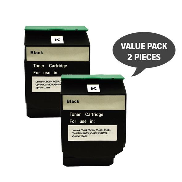 2 x C544B C544XIKG Premium Generic Black Toner