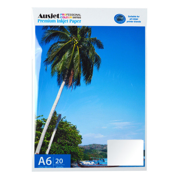 115gm A6 Sticker Glossy Photo Paper (20 Sheets)