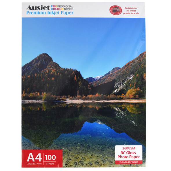 260gm A4 RC Gloss Photo Paper (100 Sheets)