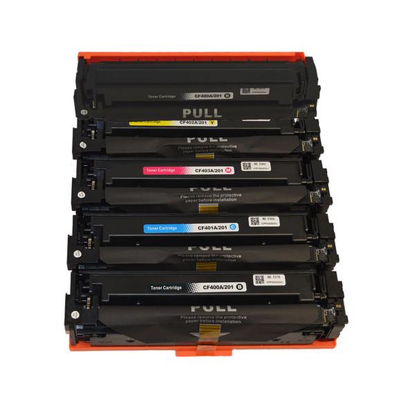 #201A Series Premium Generic Toner Cartridge PLUS extra Black set (5 cartridges)