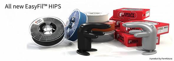 HIPS Filament EasyFil HIPS 1.75mm Red 750 gram 3D Printer Filament