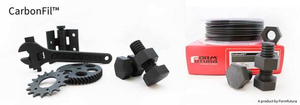 Carbon Fibre PETG Filament CarbonFil 2.85mm Black 500 gram 3D Printer Filament