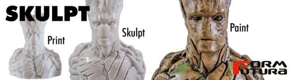 SKULPT FILAMENT Thibra3D SKULPT - Black Copper Gold Natural Sculptable 3D Printer Filament