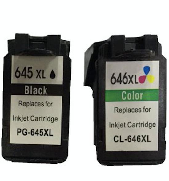 Remanufactured Value Pack (1 x PG645XL Black & 1 x CL646XL Colour) *New Chip