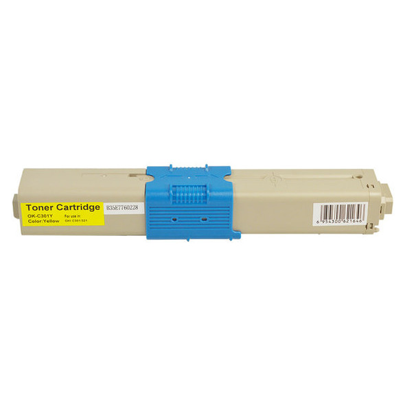 44973545 #301 Yellow Premium Remanufactured Toner