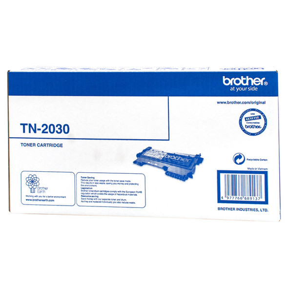 Brother TN-2030 Mono Laser Toner, HL-2130/2132/2135W, DCP-7055- up to 1,000 pages