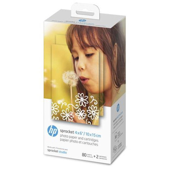 "HP Sprocket 4 x 6"" Photo Paper and Cartridges for Sprocket Studio 4KK83A"