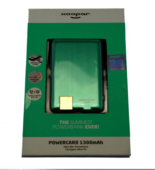 Worlds Slimmest Powerbank 1300mAH - Mint