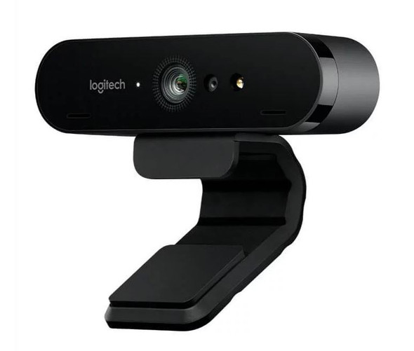 Logitech BRIO 4K Ultra HD Webcam HDR RightLight3 5xHD Zoom Auto Focus Infrared Sensor Video Conferencing Streaming Recording Windows Hello Security