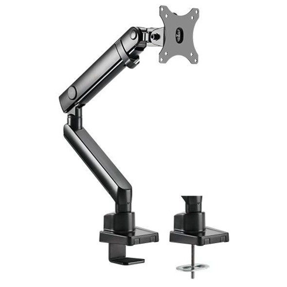 Brateck Single Monitor Aluminium Slim Mechanical Spring Monitor Arm Fit Most 17'-32' Monitor Up to 8kg per screen