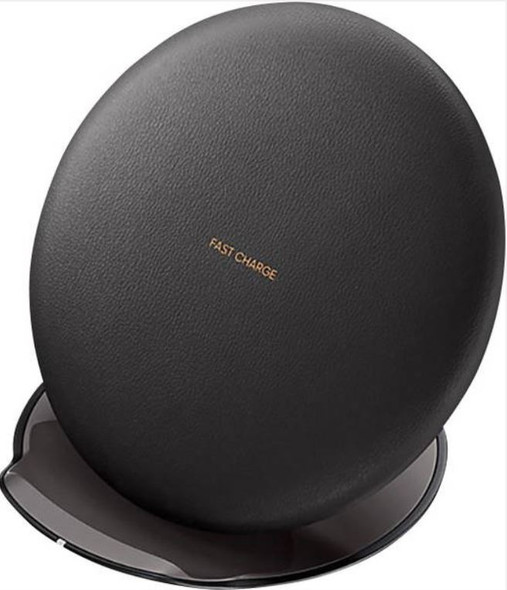 SAMSUNG WIRELESS CHARGING PAD BLACK  -  Premium Leather-Feel Material, Tight Grip, Can hold device Vertically and Horizontally