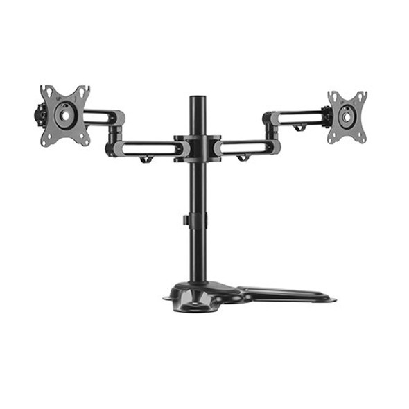 Brateck Dual Monitor Premium Articulating Aluminum Monitor Stand Fit Most 17'-32' Monitors Up to 8kg per screen (L-MABT-LDT30-T024)