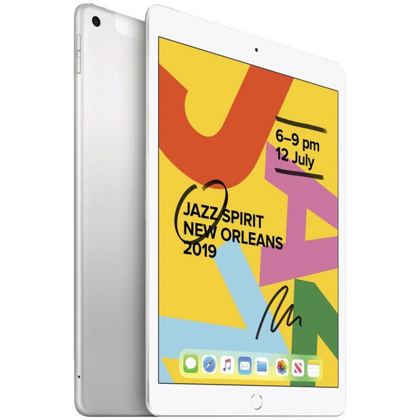 Apple iPad 10.2 G7 128GB Silver - Apple iPad with 10.2' Retina Display, iOS 13, A10 Fusion Chip, 128GB inbuilt memory, 8MP Camera, WiFi only Model