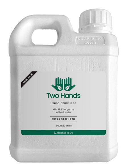 TWO HANDS - Hand Sanitiser Gel 1000ml Refill