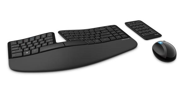 MICROSOFT WIRELESS SCULPT ERGONOMIC DESKTOP USB MOUSE & KEYBOARD - RETAIL BOX (BLACK)