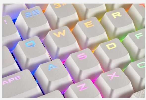 CORSAIR Gaming PBT Double-shot Keycaps Full 104/105-Keyset - White