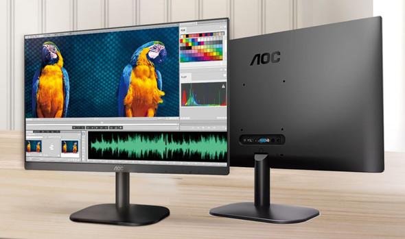 AOC 27' IPS 8ms Full HD 3-Way Frameless Slim Monitor - HDMI1.4/VGA Tilt Low Blue Mode Flicker Free, VESA 100mm