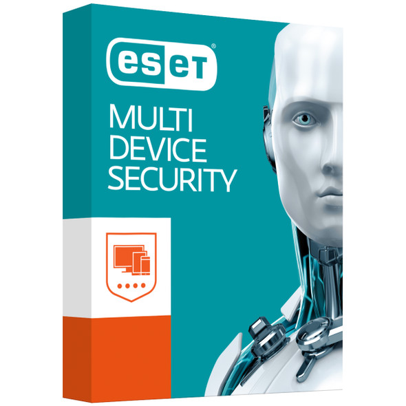 ESET Multi Device Security (Advanced Protection) 3 Windows PCs or Macs or Linux + 3 Android Devices 1 Year - Includes 1x Physical Printed Download