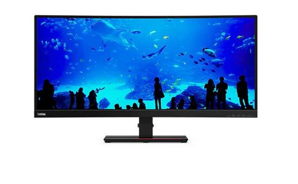 LENOVO ThinkVision T34w-20 34' WQHD Curve Monitor - 3440x1440, DP, HDMI, Audio, USB3.0 Hub, Tilt, Swivel, Curved, 3YR