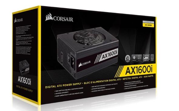 CORSAIR 1600W AX 80+ Titanium Digital Fully Modular 140mm FAN ATX PSU 10 Years Warranty.