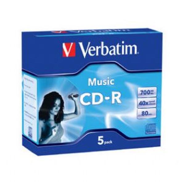 VERBATIM CD-R 80Min 5Pk Audio 40x