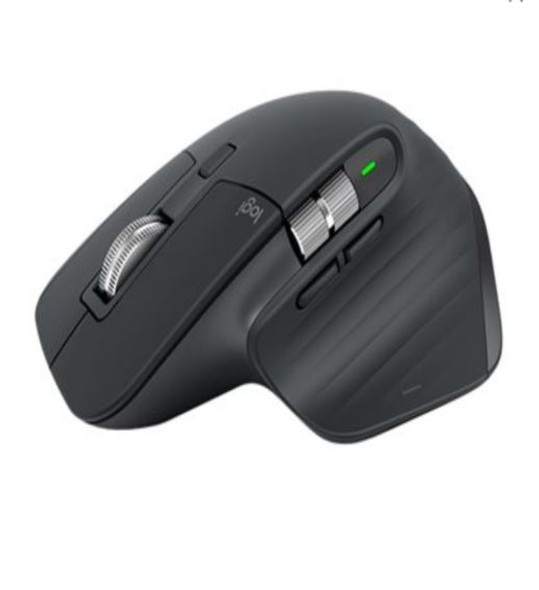 LOGITECH MX Master 3S Black Wireless Bluetooth Mouse 4000 DPI 7 Buttons Gesture Auto-Shift Scroll 2.4GHz Unifying receiver Micro-USB Charge Cable
